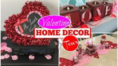a simple and elegant way to spruce up your home for valentine's day using products from the dollar store #valentinesday #valentinedecor #valentine