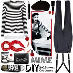"""DIY Halloween Costumes: MIME"" by katjuncica on Polyvore"
