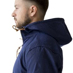 Navy Gridwax Full-Zip Anorak | Wilson & Willy's