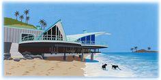 modern beach art painting