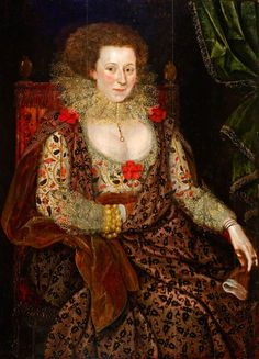 """Portrait of a Lady"", Marcus Gheeraerts the younger, ca. 1617; Dulwich Picture Gallery DPG389"