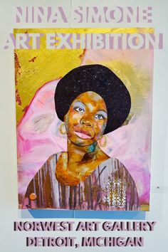 I loved all of the beautiful art at the Nina Simone Art Exhibition at Norwest Art Gallery! Located in Detroit, Michigan, the art gallery has reopened its doors to the public. Click the link for more details! Artwork by Denyse Couture | Detroit art | Black art | Black history | Nina Simone Detroit Art, Detroit Michigan, World Festival, Nina Simone, Museum Of Contemporary Art, Black Art, Black History, Summer Fun, Home Art