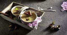 Unser beliebtes Rezept für Maronen-Cremesuppe mit Speckpflaumen und mehr als 55.000 weitere kostenlose Rezepte auf LECKER.de.