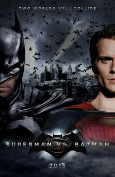 Superman vs. Batman Fan Posters - Henry Cavill (Superman) & Ben Affleck (Batman)  WOW!