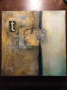 by Betsy Walcheski.  Donna Downey 10x10x10 series. Collage Art Mixed Media, Mixed Media Canvas, Cool Art Projects, Word Art, Speed Internet, Painting & Drawing, Art Forms, Vintage Tags, Bookbinding