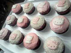 Custom Hello Kitty Red Velvet cupcakes. By Sharon / Not Your Average Cupcake. South FL