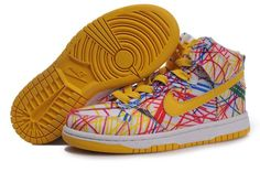 Nike Dunk High Premium QK Back to School Yellow Pink, so glad i fit into kids shoes. Jordan Shoes For Kids, Michael Jordan Shoes, Air Jordan Shoes, Nike Dunk High, Nike High, Nike Shoes Online, Discount Nike Shoes, Kid Shoes, Cute Shoes