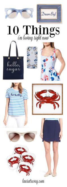 Howdy Summer! How much do you love Reese Witherspoon and her happy new arrivals at Draper James? Here are some red white and blue favorites for summer fun!