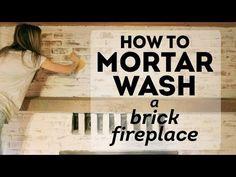 Mortar Wash Brick Fireplace Tutorial & Cottage Flip Update | Jenna Sue Design Blog