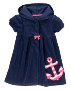 365b85c869922 New Baby Gifts  Anchor Terry Cover Up for Baby Girls   Gymboree
