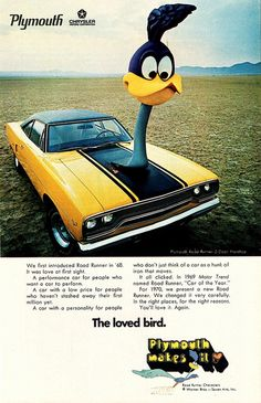 1970 Plymouth Road Runner Poster.