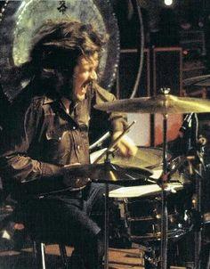 John Bonham, he was a beast on drums!!