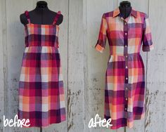 from sun dress to shirt dress - get the sewing machine out now!