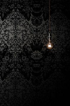 Devil Damask Flock wallpaper - timorousbeasties.com ~ETS #damask