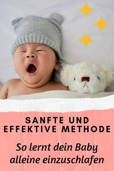Your baby doesn't fall asleep alone? Falling asleep alone can have a positive effect on your baby's sleep. With this gentle and effective method, my child has learned to fall asleep alone. Baby Co, Baby Kids, Baby Baby, Baby Lernen, Sleeping Alone, Baby Nursery Neutral, Baby Hacks, Nursery Themes, Baby Sleep