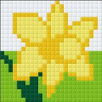 Daffodil cross stitch. Flower cross stitch.