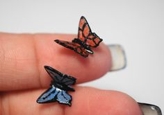 Miniature Butterfly Tutorial, Polymer Clay FREE video Tutorial in English by Heather Wells on Youtube. Thanks!