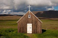 small church near krýsuvík by martin thomay