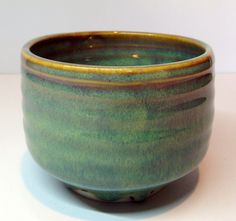 Tea bowl with Alberta slip glaze