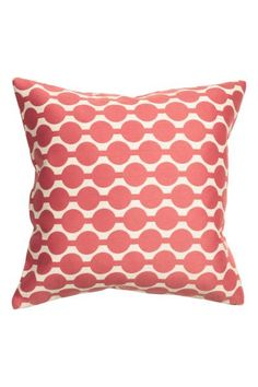 Jacquard-weave cushion cover: Jacquard-weave cushion cover in a cotton blend with a concealed zip.