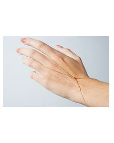 Oh so perfect and delicate for boho brides! Gold Infinity Knotted Hand Chain - JewelMint