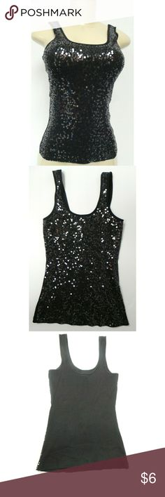 Sparkly Express Tank Top Black Express Top Express Tops Tank Tops
