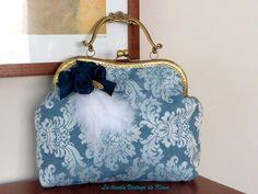Bolso de mano y colgar con boquilla - arabesco- de La Tienda Vintage de Kima por DaWanda.com