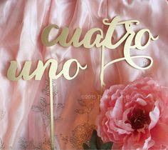 Numeros+de+Mesa.+Set+of+1-16++Quinceañera.+by+TheVirginiaArtisans
