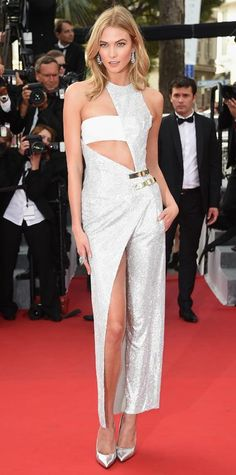 The Best of the 2015 Cannes Film Festival Red Carpet - Karlie Kloss in Atelier Versace. from #InStyle