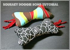 We all know that dogs play rough and dog toys end up in shreds sometimes. Laura Griffin shows you how to make your own squeaky doggie bone so you can give your doggie some handmade love. Laura writ...