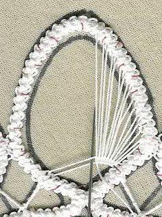 irish lace m Irish Crochet Patterns, Crochet Lace Edging, Freeform Crochet, Hand Embroidery Tutorial, Hand Embroidery Stitches, Ribbon Embroidery, Romanian Lace, Japanese Crochet, Cross Stitch Christmas Ornaments