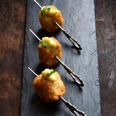 Recipes from: Foodily http://www.foodily.com/r/oBPJ8VKN4-pork-belly-croquettes-with-roasted-corn-cream-by-the-british-larder
