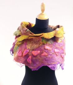 Lena Archbold creates lots of her nuno felt with Margilan silk. Margilan Silk is available to buy from her online shop. Creative Workshop, Types Of Craft, Nuno Felting, Textile Artists, Shawls, Wearable Art, Scarves, Silk, Crafts