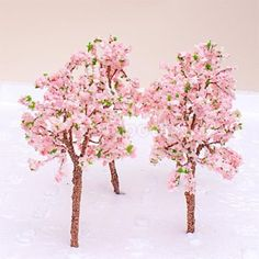 10x-Model-Pink-Flowers-Tree-Train-Scenery-Layout-OO-HO