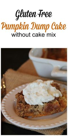 Gluten Free Pumpkin Dump Cake without cake mix
