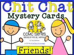 This unit is based on a new series CCMC (Chit-Chat Mystery Cards) I've been using in the classroom. My students love speaking cards - not only does it spark their interest in the topic at hand - but it also reinforces vocabulary and speaking skills.   This unit can be used to discuss qualities and terms related to 'friends' and reinforces vocabulary, speaking and writing skills. As it allows students to go through 4 critical processes (think, write, ask, write).  ESL World $