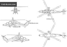 Eurocopter Tiger CAD Block Cad File, Cad Blocks, Cad Drawing, Helicopters, Compass Tattoo, Autocad, Vehicles, Car, Vehicle