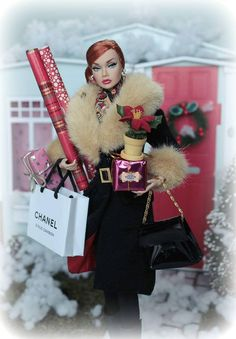 Christmas Shopping Barbie Poppy
