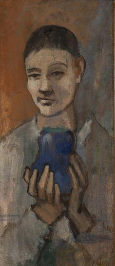1905-Muchacho que sostiene un florero