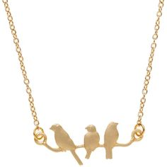 Vintage Bird on a Wire Necklace ($19) ❤ liked on Polyvore