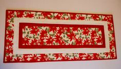 Christmas Holiday Quilted Table Runner by ForgetMeNotQuilteds