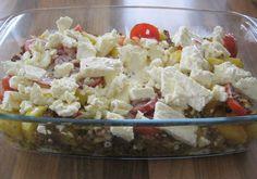 Kartoffel - Hack - Auflauf mit Schafskäse, ein sehr leckeres Rezept mit Bild aus der Kategorie Kartoffeln. 126 Bewertungen: Ø 4,2. Tags: Auflauf, Hauptspeise, Kartoffeln, Rind, Schwein