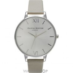 Buy Grey Lilac/Black Olivia Burton Women's Big Dial Leather Strap Watch Gift Set from our Women's Watches range at John Lewis & Partners. Free Delivery on orders over Stainless Steel Jewelry, Stainless Steel Watch, Grey Watch, Watch 2, Fashion Watches, Lilac, Dusty Pink, Bracelets, Elegant