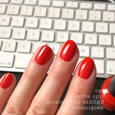 It's the upcoming OPI Mexico City Collection for Spring/Summer Let's look at all da swatches! Red Summer Nails, Spring Nail Colors, Spring Nails, Opi Gel Polish, Gel Polish Colors, Orange Nails, Red Nails, Alabama Nails, Latest Nail Colours