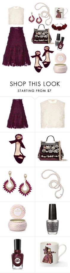 """""""two piece dress"""" by art-gives-me-life ❤ liked on Polyvore featuring Costarellos, Alexandre Birman, Dolce&Gabbana, Effy Jewelry, Mikimoto, Voluspa, OPI, Sally Hansen, contestentry and sexydresses"""