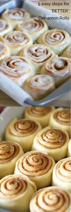 Make *BETTER* Cinnamon Rolls in 5 Easy Steps