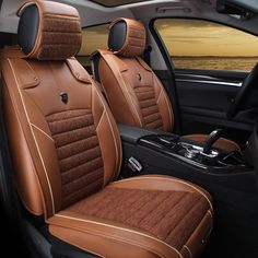 Free Shipping 100% Leather +Fiberflax Four Colors Black Brown Beige Coffee 5 Seats Car General 944 - http://sns.waimaobox.com/?p=35936