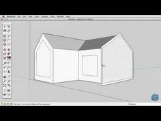 Sketchup Tutorial For Beginners-Part 2 Sketch Up Architecture, Architecture Design, Architecture Models, 3d Design, House Design, Google Sketchup, Drawing Programs, Up House, Popular Woodworking
