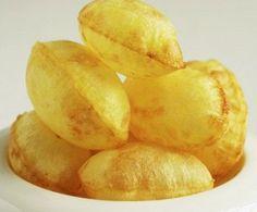 Patatas para freír Patatas suflé Nut Recipes, Potato Recipes, Veggie Recipes, Snack Recipes, Cooking Recipes, Snacks, Salty Foods, Food Decoration, Potato Dishes