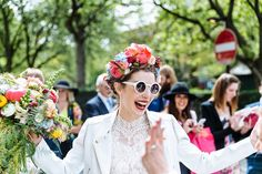 A Colourful and Cool East London and Frida Kahlo Inspired Wedding. Photography by Nick Tucker.
